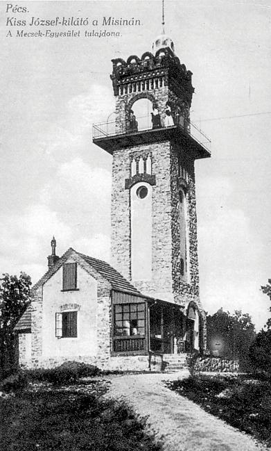 A kilátó az 1910-es években