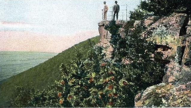 A kilátó az 1890-es években, egy képeslapon