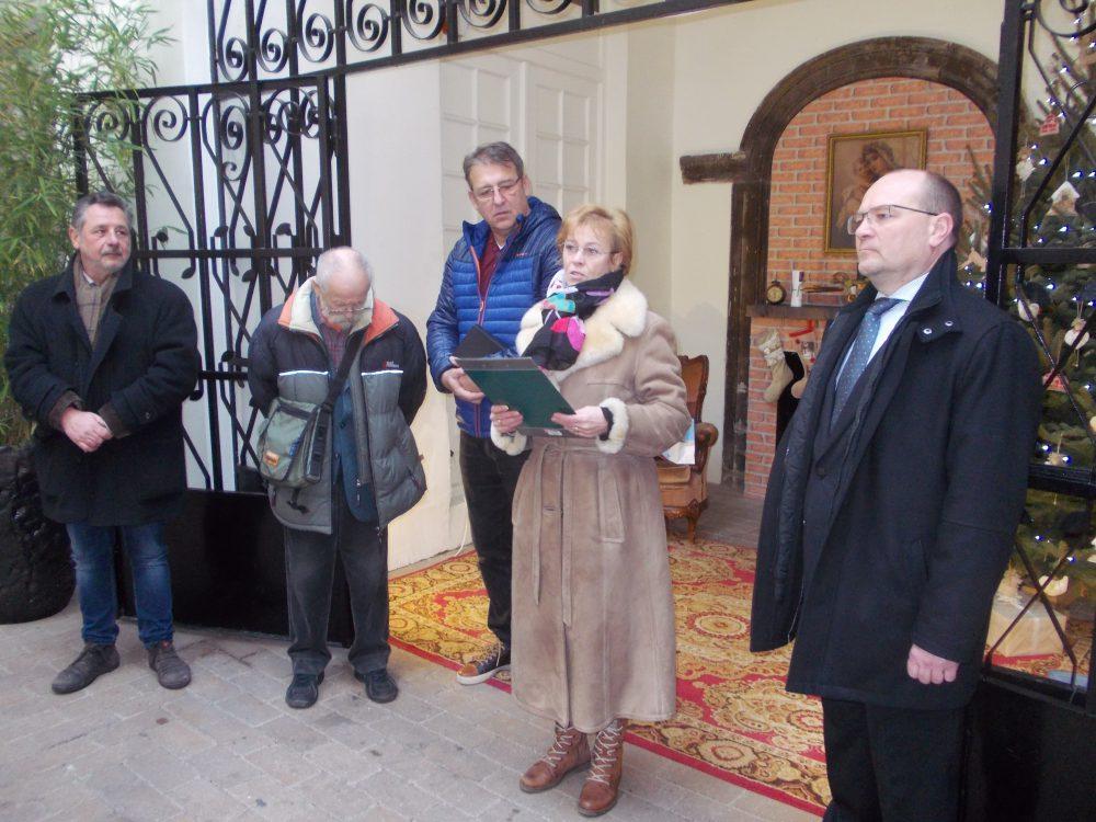 A zsűri tagjai, Faltis Roberta szervező, és Girán János alpolgármester a díjátadón