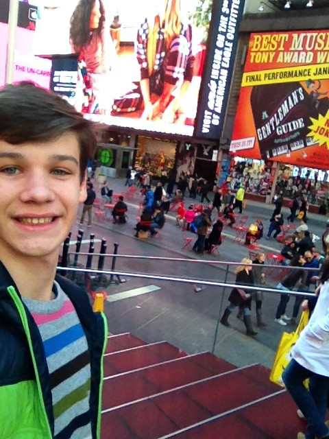 Beni a Times Square-en