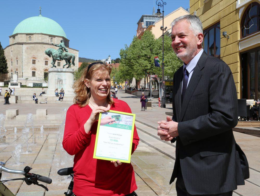 Jankó Andrea oklevelet is kapott
