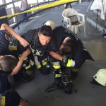 Tűzoltók lepték el a pécsi TV-tornyot