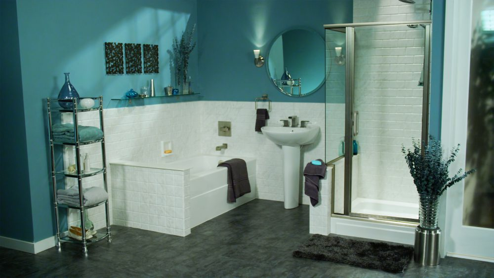 Blue and brown bathroom designs - Teal Brown Bathroom