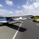 Autópályán landolt egy kisrepülő
