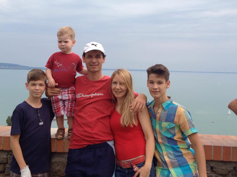 A Bánki család a Balatonnál