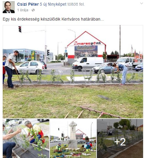 Csizi Péter a Facebookon mutatta meg először a szimbolikus kaput