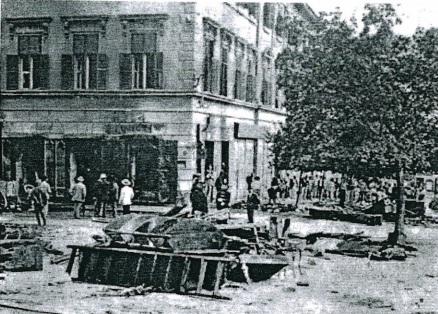 Több pavilon is összedőlt a robbanás erejétől