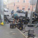 Újabb tragédia: sörben úszott a pécsi belváros