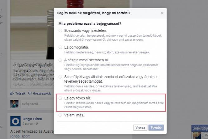 A Facebookon jelentgethetünk, amíg nem történik valami