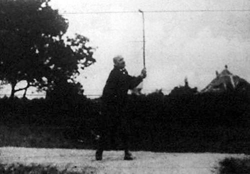 Lauber Dezső egy golfbajnokságon
