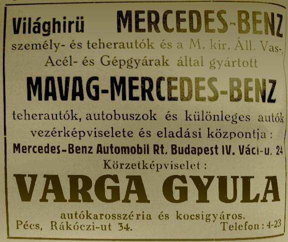 Mercedes Pécsről!