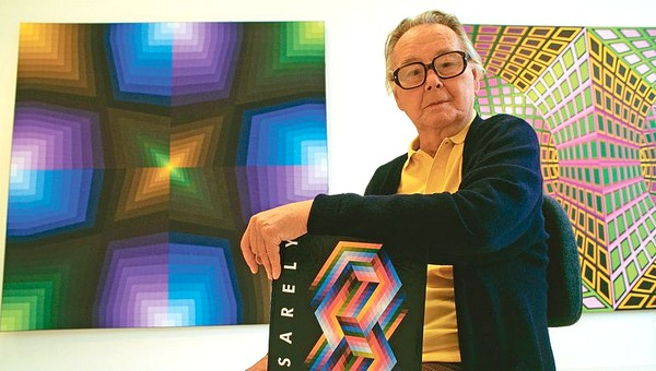 10 Jun 1993, Annet-sur-Marne, France --- Hungarian-born French abstract Op art painter Victor Vasarely. | Location: Amet sur Marne, France.  --- Image by © Thierry Prat/Sygma/Corbis