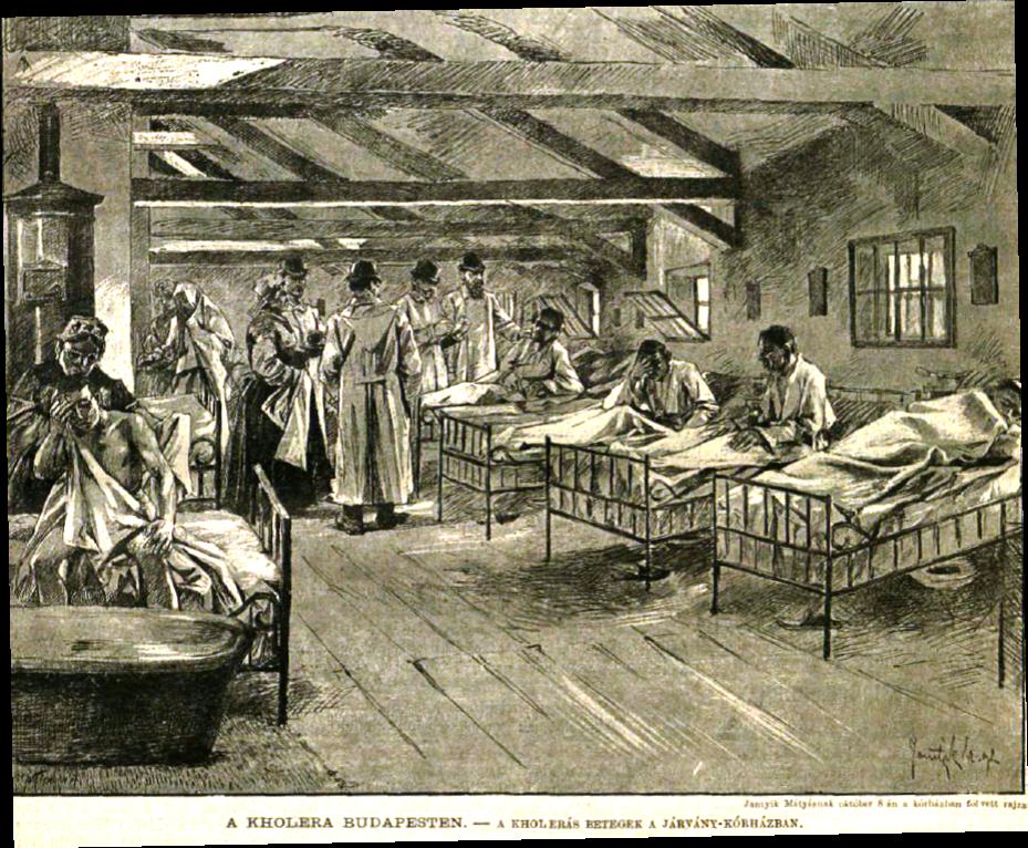 Kolera-kórház Budapesten - a pécsi is így festhetett