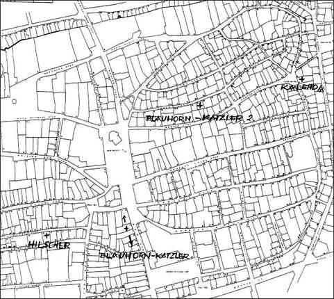 A pécsi gyufagyárak térképe - Rayman János munkája