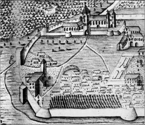 Fay Ferenc rajza 1782-ből, amikor a vár már kevésbé várszerű