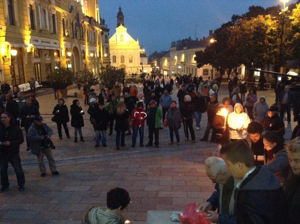 Csendes, békés tüntetés volt