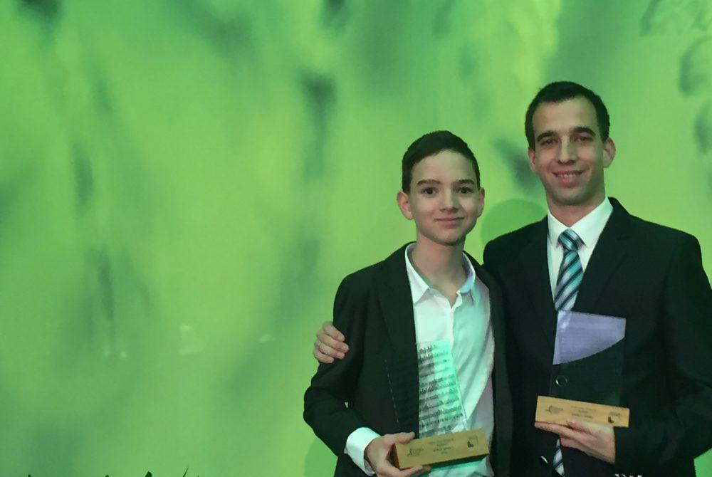 Boros Misivel a díjátadón - Pécs két büszkesége