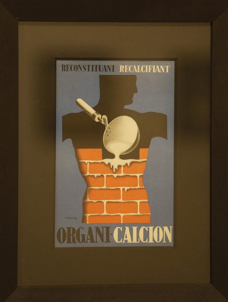 Egy kalciumtabletta reklámgrafikája