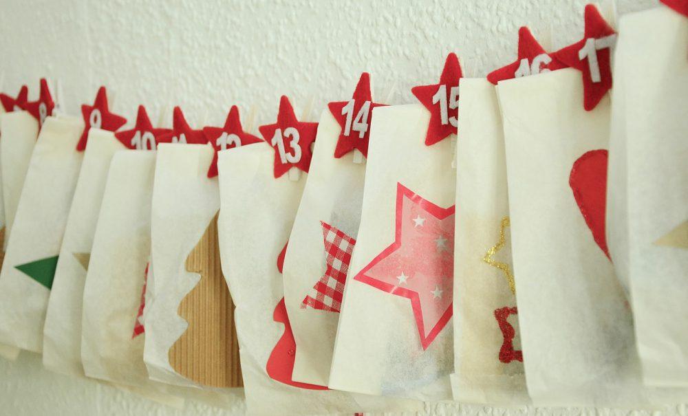 advent, naptár, kézműves, karácsony, csomagolás, kreatív, diy