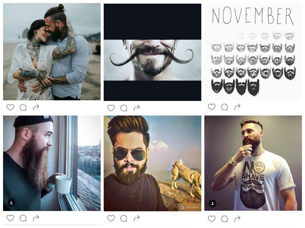 szakáll, no shave, november, movember, bajusz, férfi, mozgalom, instagram