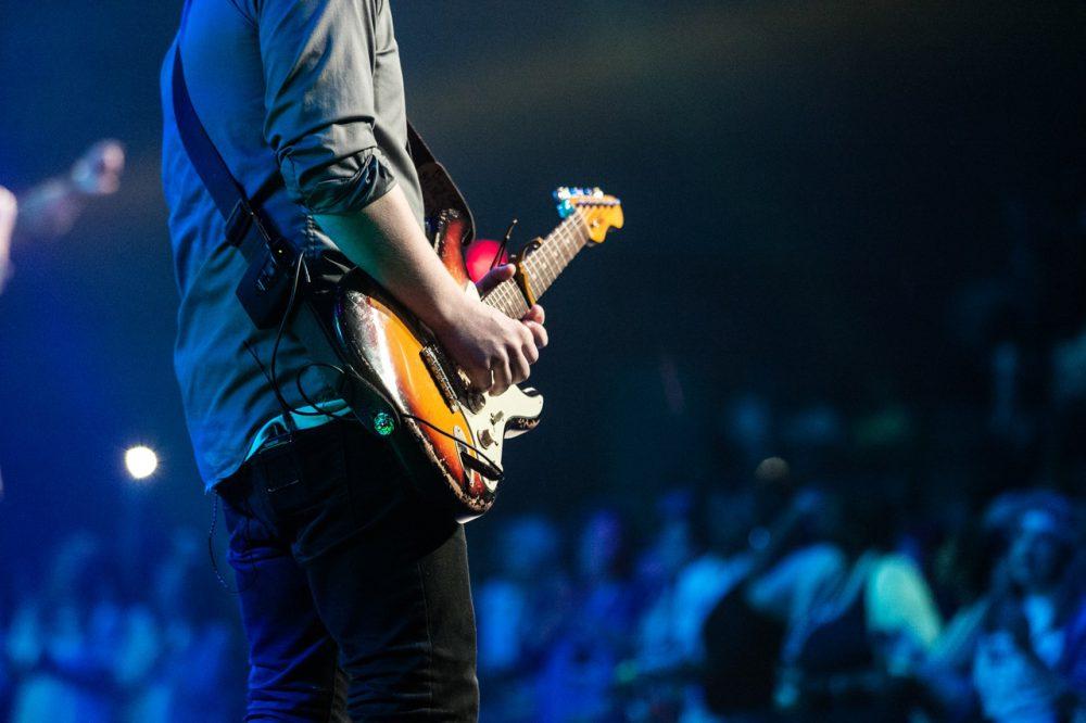 koncert, gitár, együttes, zenekar, banda