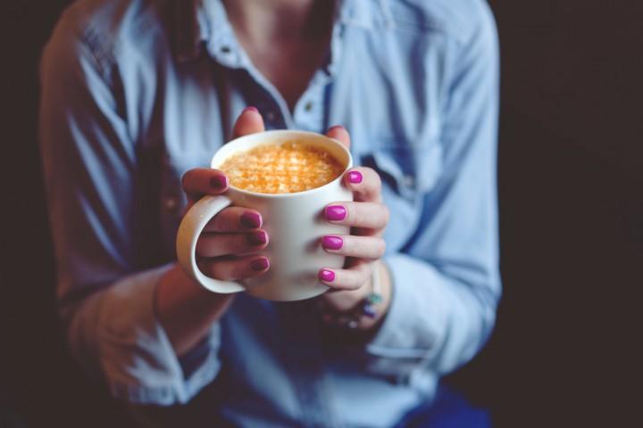 kávé, reggeli, reggeli, koffein, kávézó