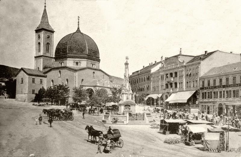 A Széchenyi téri piacozás 1890-ben
