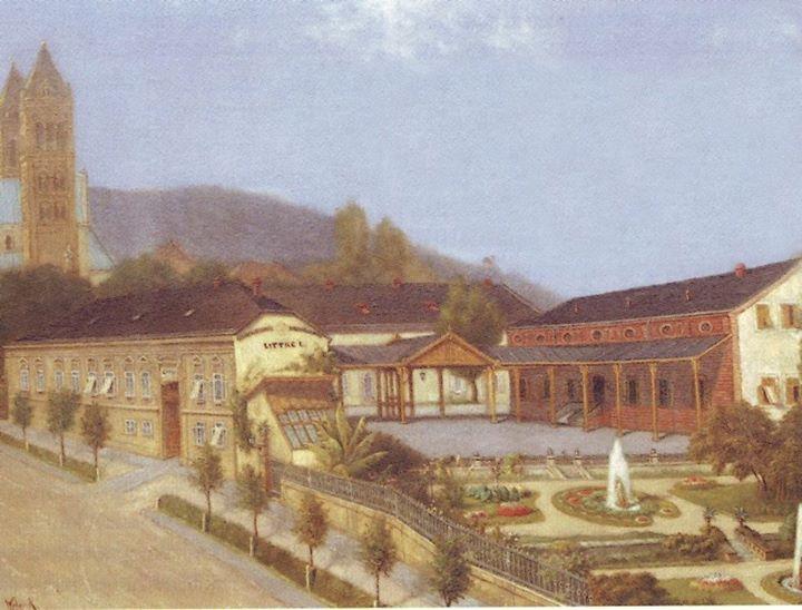 Így örökítették meg fénykorában a gyárat (forrás: Régi Pécs Facebook)