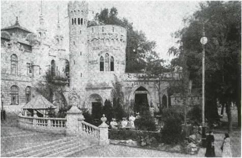A Littke Pezsgőgyár pavilonja az 1896-os országos kiállításon (forrás: Pécs Története)