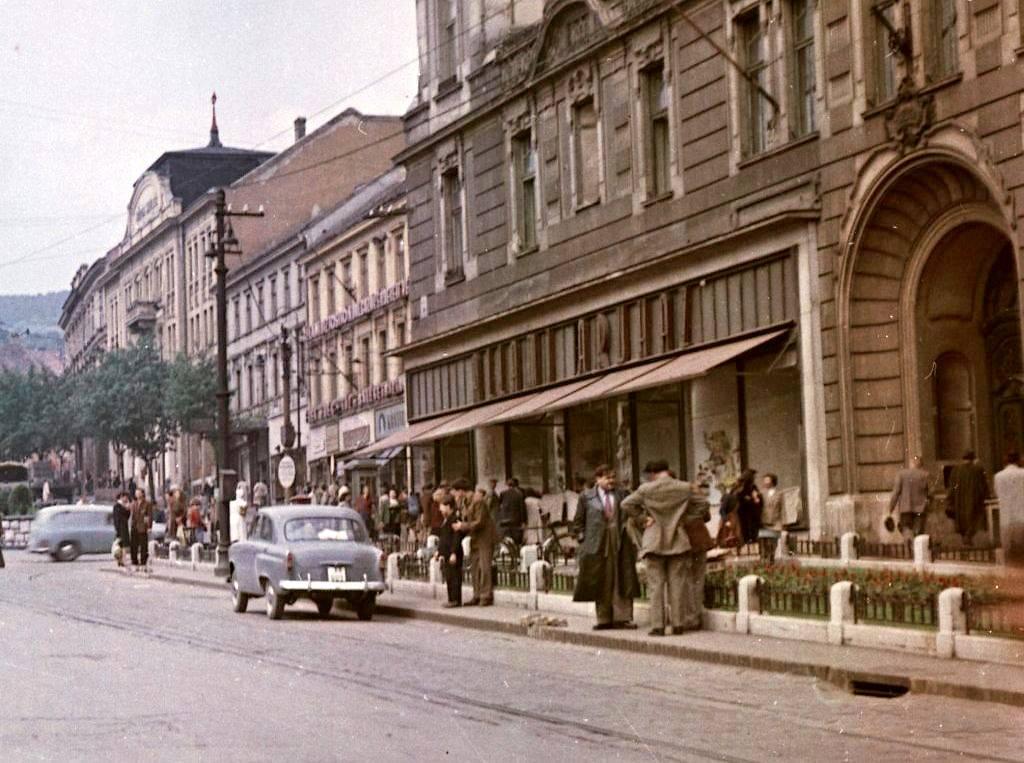 1957-ben így festett az áruház (Forrás: Fortepan)
