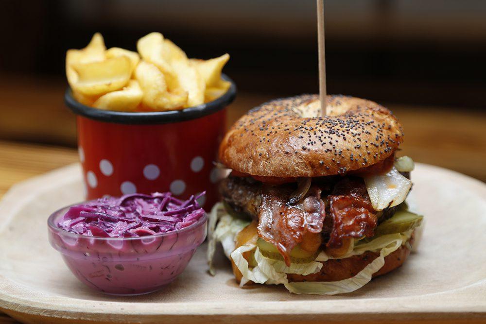 A belváros egyik legfrankóbb burgerje
