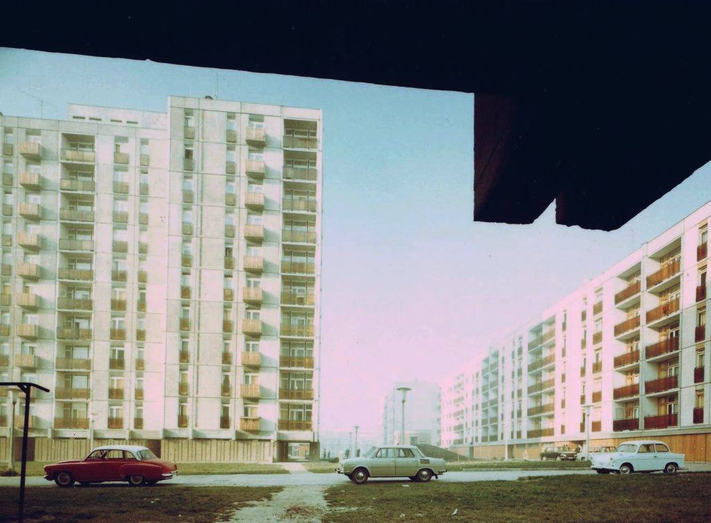 1972-ben a friss panelek a Szigeti úton és a Váci Mihály utcán, miközben a Rókus sétány még nincs kész