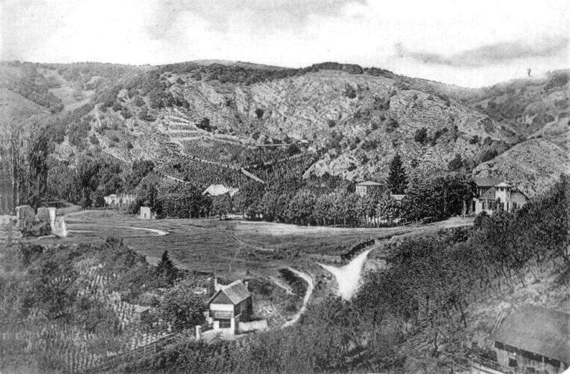 A Tettye az 1890-es években, Reéh György születése előtt (Forrás: Régi Pécs Facebook)