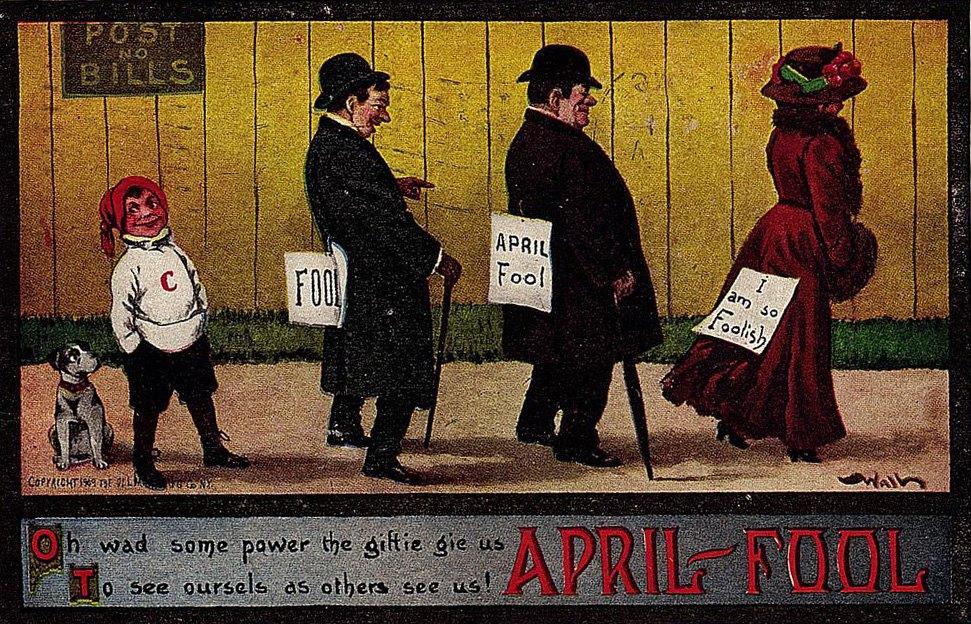 Április elsejei illusztráció 1909-ből (Forrás: Cultura.hu)