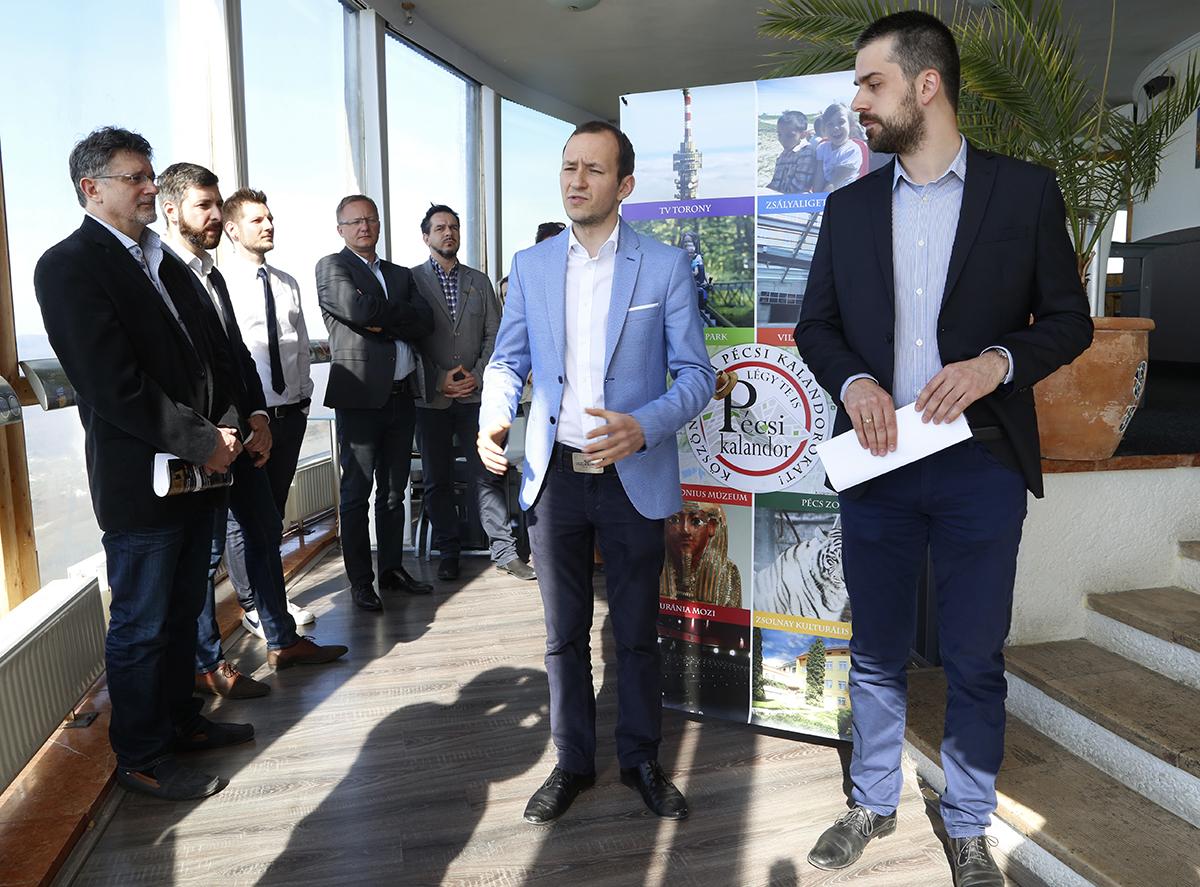 Őri László és Siptár Dávid bejelenti a Pécsi Kalandort a tv-toronyban