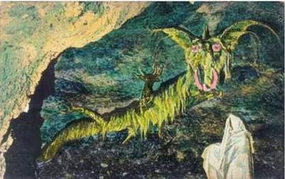 A tettyei sárkány látványterve (Forrás: Pécsi Szemle)