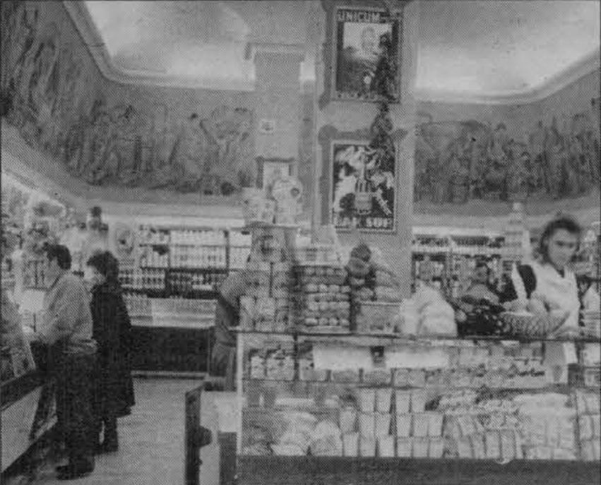 Gebauer freskói a boltban (Forrás: Régi Pécs Blog)